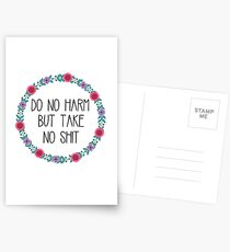 Tu keinen Schaden, aber nimm keine Scheiße Postkarten