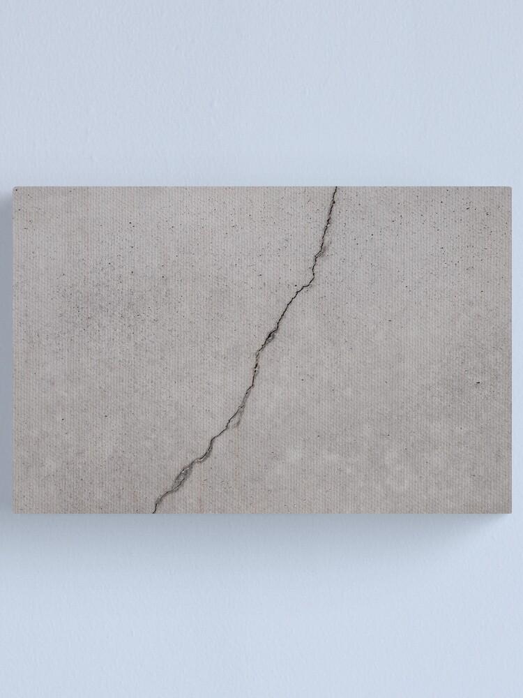 Alternate view of cracked concrete texture - cement  stone  Canvas Print