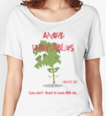 Sarcastic Kale Angry Vegetables - Eat Us If You Dare! Women's Relaxed Fit T-Shirt