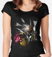 one punch man Women's Fitted Scoop T-Shirt