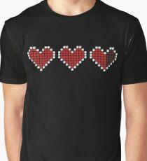 3D Pixel Life Hearts ❤ Graphic T-Shirt