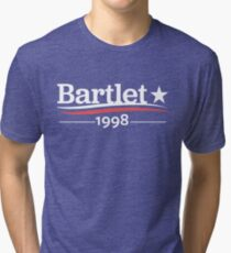 WEST WING President BARTLET 1998  White House Tri-blend T-Shirt