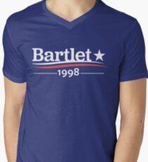 WEST WING President BARTLET 1998  White House Men's V-Neck T-Shirt