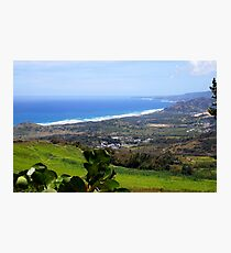 View from Cherry Hill, Barbados Photographic Print