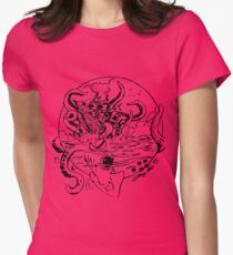 Giant Sea Monster | Myths Womens Fitted T-Shirt