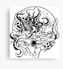 Giant Sea Monster   Myths Canvas Print