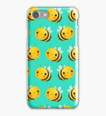 Bumble Bee Mint iPhone Case/Skin