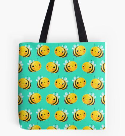 Bumble Bee Mint Tote Bag
