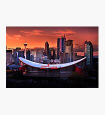 Calgary Skyline at Dusk Photographic Print