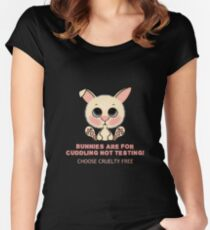 CHOOSE CRUELTY FREE BUNNY Women's Fitted Scoop T-Shirt