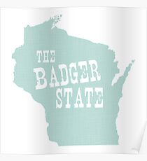 Wisconsin State Motto Slogan Poster