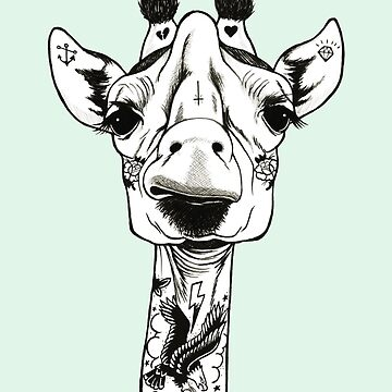 Jirafa tatuada de PaperTigressArt