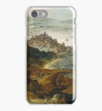 Joos De Momper (Ii) - River Landscape With Boar Hunt, 1635 iPhone Case/Skin