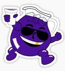 Kool Aid: Stickers   Redbubble Purple Kool Aid Man