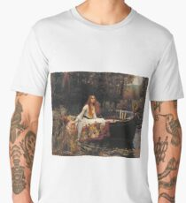 John William Waterhouse - The Lady Of Shalott 1888 Men's Premium T-Shirt