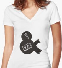 make a tape Women's Fitted V-Neck T-Shirt