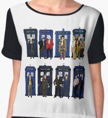 Doctor Who - Doctors & Tardises Chiffon Top