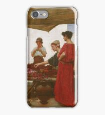John William Waterhouse - A Grecian Flower Market (1880) iPhone Case/Skin