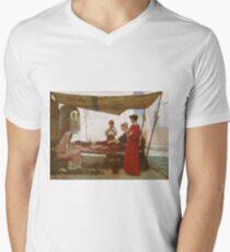 John William Waterhouse - A Grecian Flower Market (1880) Mens V-Neck T-Shirt