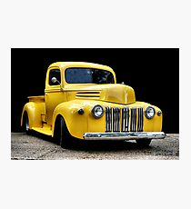Yellow Ford Truck Photographic Print