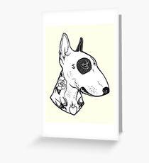 Tattooed Bullterrier Greeting Card