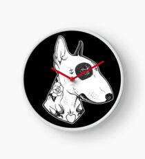Tattooed Bullterrier Clock