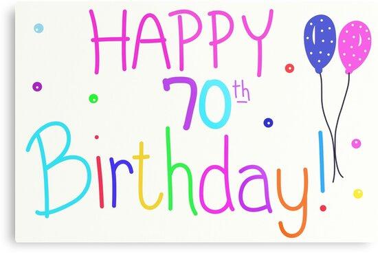 Happy 70th Birthday Balloons