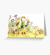 Meeting In The Garden Greeting Card