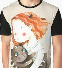 Meow Grafik T-Shirt
