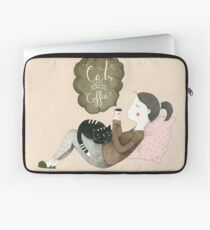 Cats and Coffee Laptop Sleeve