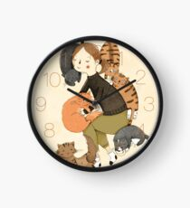 Cat Love Clock