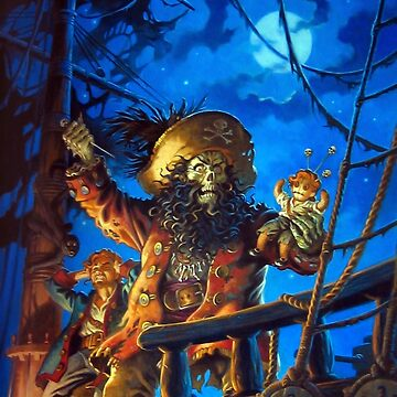 Monkey Island 2, LeChucks Revenge, Guybrush Threepwood, The Secret of Monkey Island, Le Chuck, LeChuck, Cover DVD CD Album, Merchandising, Merch, Merchandise by designteam