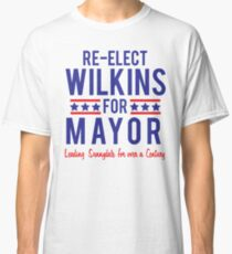 BUFFY The Vampire Slayer Re-Elect MAYOR WILKINS Scooby Gang Big Bad  Classic T-Shirt