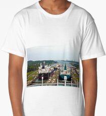 Two Ships in the Locks, Panama Canal Long T-Shirt