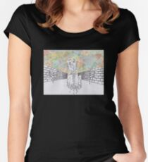 Melting man and sky Women's Fitted Scoop T-Shirt