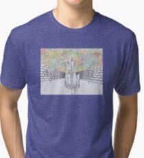 Melting man and sky Tri-blend T-Shirt