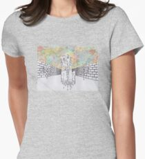 Melting man and sky Womens Fitted T-Shirt