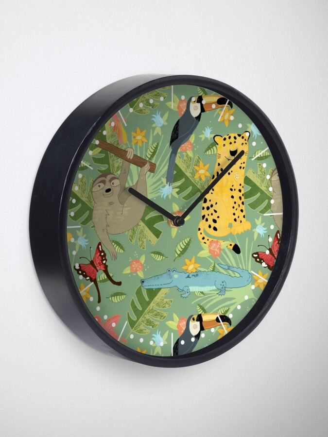 Alternate view of Jungle Adventure Clock