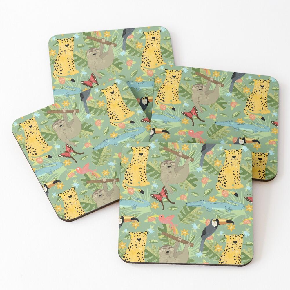 Jungle Adventure Coasters (Set of 4)