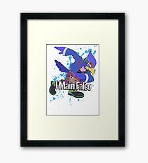 I Main Falco (Purple Alt.) - Super Smash Bros. Framed Print