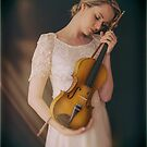 The violin player by Jeff  Wilson