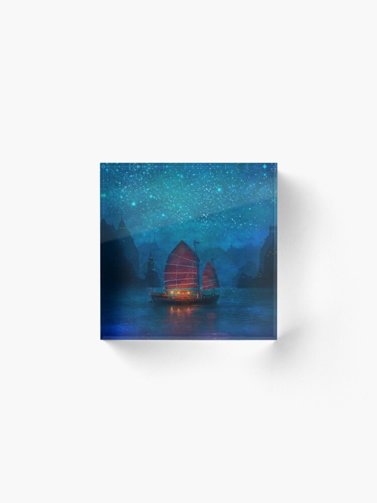 Alternate view of Our Secret Harbor Acrylic Block