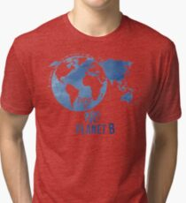 There Is No Planet B - Blue Tri-blend T-Shirt