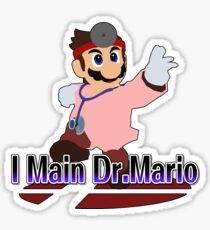 I Main Dr.Mario (Red alt.) - Super Smash Bros Melee Sticker