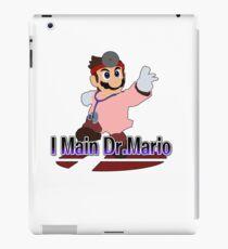 I Main Dr.Mario (Red alt.) - Super Smash Bros Melee iPad Case/Skin