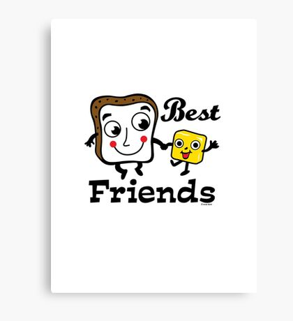 "Bread and Butter ""Best Friends""  Canvas Print"