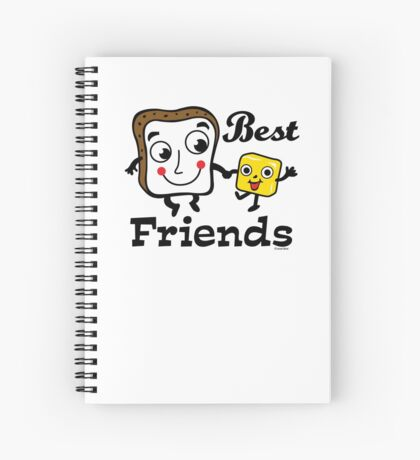 "Bread and Butter ""Best Friends""  Spiral Notebook"