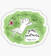Green Pastures Sticker