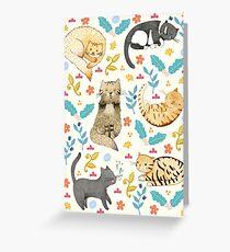 Meine Katzen Grußkarte