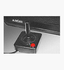 Atari 2600 black & white Photographic Print